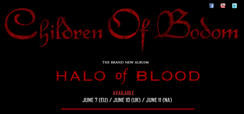 CHILDREN OF BODOM - HALO OF BLOOD - AVAILABLE AT NUCLEAR BLAST RECORDS!